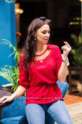 Легкая женская блузка с вышивкой, новинка 2019 42, 44, 46, 48 рр.