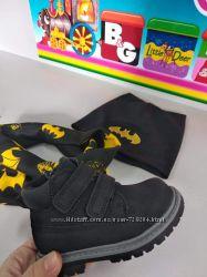 Демисезонные, замшевые ботинки для мальчика