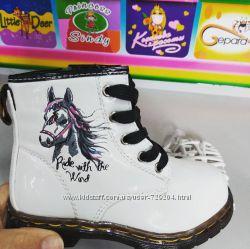 Демисезонные ботинки белые для девочки