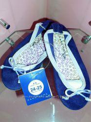 24 25 Замшевые балеточки Zara