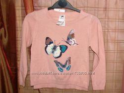 104 - 116 Свитер C&A нежные бабочки