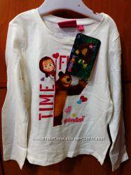 3- 6 лет  Хлопковая футболка Маша и Медведь