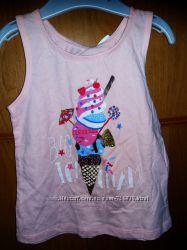 2- 6 лет Хлопковая майка Вкусное мороженое