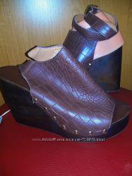 38 40 Шикарные кожаные босоножки H&M