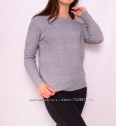 Пуловеры классического кроя с круглым вырезом, много цветов