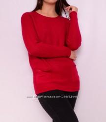 Красивые удлиненные пуловеры с карманами, много цветов