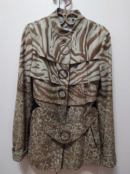 Турецкая кожаная куртка размер М