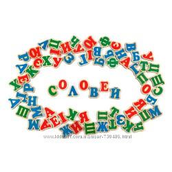 Komarovtoys деревянные буквы на магните, укр. алфавит J704. В наличии.