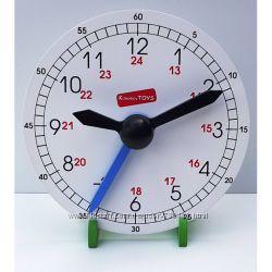 Komarovtoys деревянные часы для обучения А375. В наличии.
