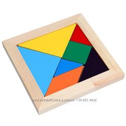 Komarovtoys деревянная мозаика Танграм А367. В наличии.
