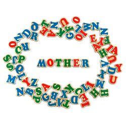 Komarovtoys деревянные буквы на магните, английский алфавит J704.