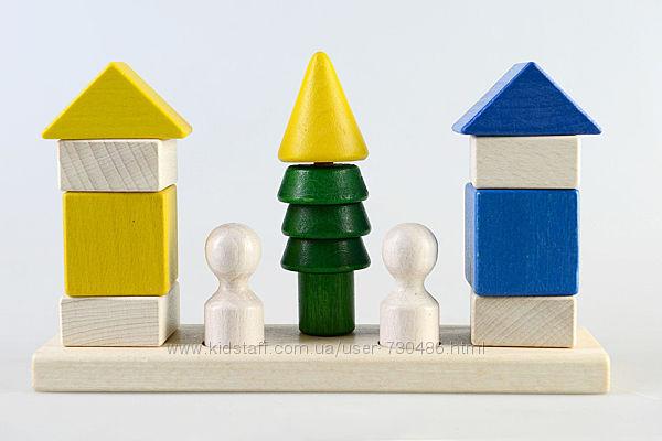 Деревянный конструктор пирамидка Соседи КС-007, ТАТО. В наличии.