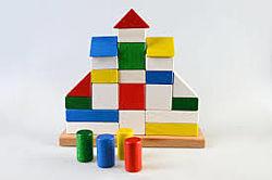 Деревянная пирамидка конструктор Замок ТАТО. В наличии.