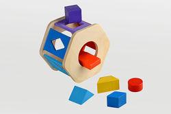 Деревянная игрушка сортер Радуга ВК-006, Веселка ТАТО. В наличии.