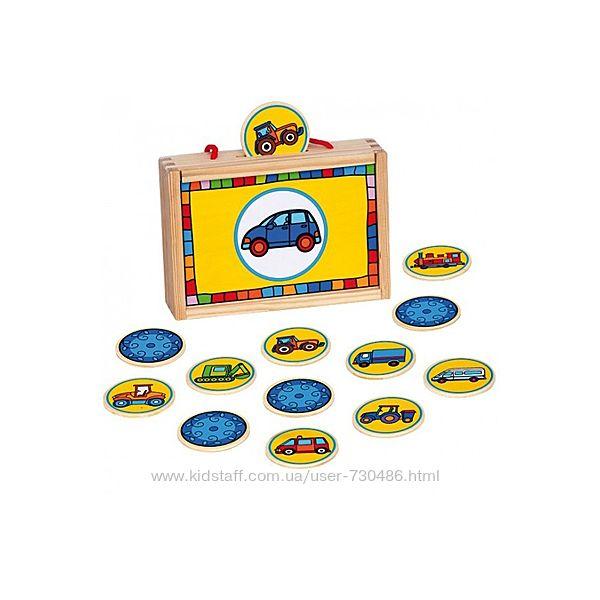 Деревянная игра Найди пару Транспорт Bino 84043. В наличии.