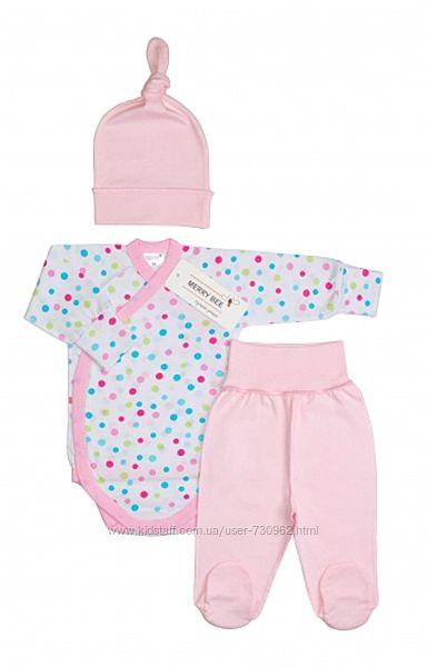 Комплект для новорожденной девочки Горошки, Тм Мерри Би