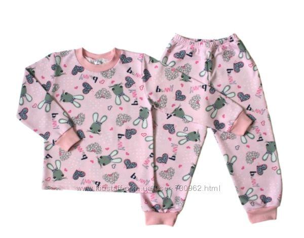 Пижама с начесом для девочки Bunny-скидки