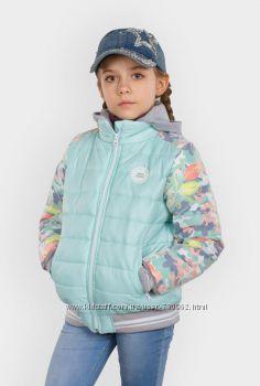 Курточка для девочки Тюльпаны, Тм Evolution