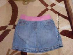 Продам джинсовую юбку на девочку 3-4 года