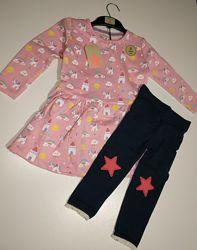 Комплект платье лосины Crafted 1-2 года флис. Качество бомба