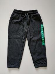 Теплые детские спортивные штаны джогеры на флисе крафтед Crafted оригинал