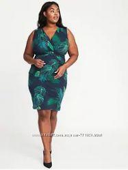 Платье 4X Plus Оld navy, зеленый, хлопок