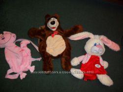 рюкзак  ,  маша и медведьоктор плюшевая , девочка, зайка