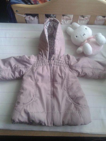 красивая  курточка пудренного цвета mothercare