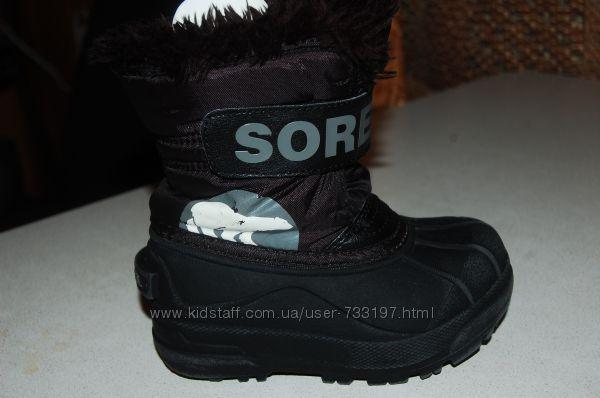 зимние ботинки sorel  25 размер