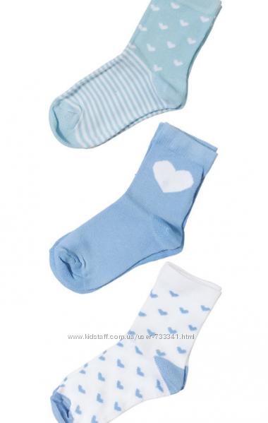 носки детские, 24-26 размер, набор 3 пары
