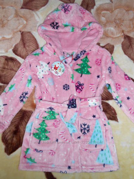 Плюшевый халат девочке 2-3 года, Primark