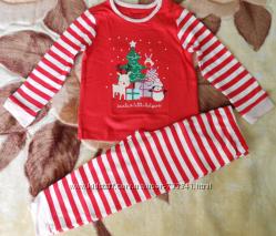 Пижамы детские мальчику и девочке, Primark 86-92 см, хлопок