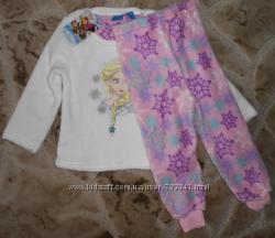 Флисовая теплая пижама Эльза, Холодное сердце 2-3-4 года, Primark