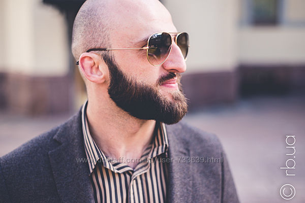 Солнцезащитные очки авиаторы коричневые градиент в золотой оправе