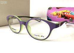 Детская оправа круглые очки на силиконовом шнурке Penguin Baby 62126 фиолетовые