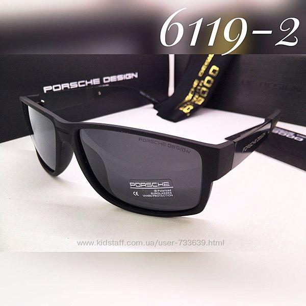 Мужские солнцезащитные очки Porshe Design поляризация линз матовая оправа дужки металл