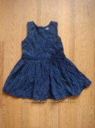 Minoti красивое синее платье сарафан Т 80-86 см