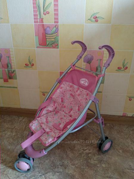 Коляска-трость для кукол Baby Annabell, розовая с барашками