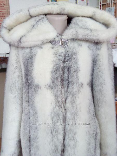 Женская красивая белая шуба, 46-48