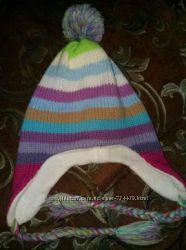 Теплые шапки для деток на флисе. Зима осень. Next