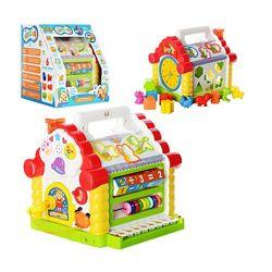 Теремок &ndash сортер 9196 музыкальный ТМ Joy Toy, Мультибокс 3839, Домик 8