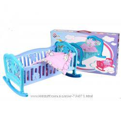 Кроватка для пупса колыбель 2 цвета Технок 4524, 4166, 4180, 4173, 4197