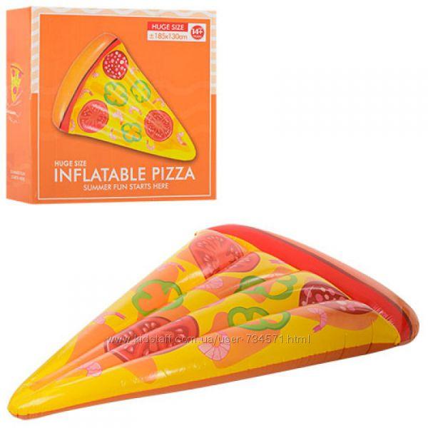 Надувной пляжный матрас пицца 25568, Надувной плот белый лебедь 25553