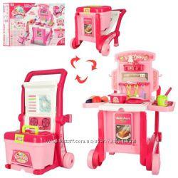 Детская кухня на колесах 008-927, Кухня детская чемодан-тележка 008-930