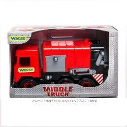 Машина мусоровоз Middle truck в коробке wader 39492, 39484, 39488