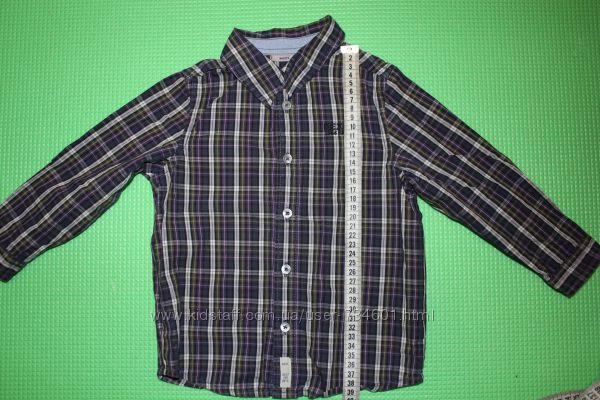 Рубашка в клетку нарядная MEXX 86-92-98 см мальчик