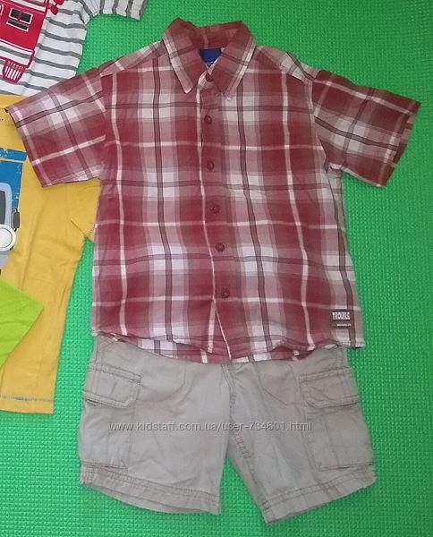 комплект лето шорты рубашка с коротким рукавом 110