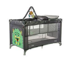 Манеж-кроватка 2 уровня, пеленатор, дуга с игрушками CARRELLO Molto