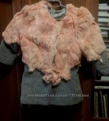 Шубка-пальто из шерсти и кролика