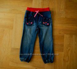 92-98 cм Bluezoo осень стрейчевые шикарные джинсы. Длина 55 см, шаговый 36